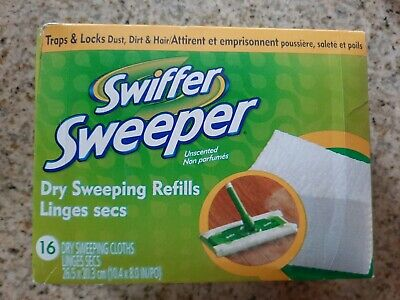 (2A3)  Swiffer Sweeper Dry Pad Refills, Unscented, 16 Ct free shipping