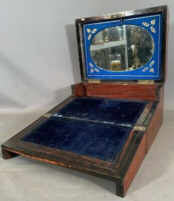 19thC Antique VICTORIAN Old ENGLISH TUNBRIDGE Inlay WRITING Lap DESK SECRETARY