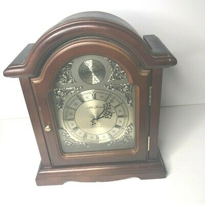 VTG Seth Thomas Westminster-Whittington Tempus Fugit Alarm Wood Glass Door Clock