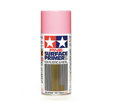 Tamiya 87146 Fine Surface Primer L for Plastic & Metal Pink (180 ml) modellismo