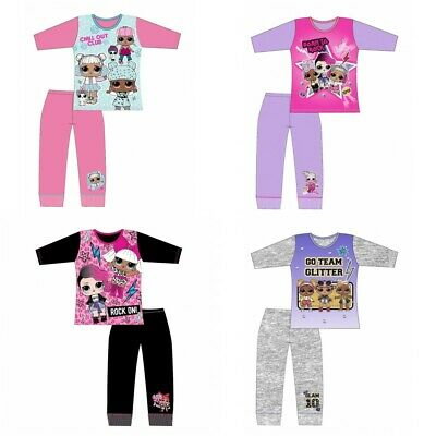 Girls LOL Surprise Dolls Pyjamas Long PJs Nightie Nightwear Ages 4-10 Years