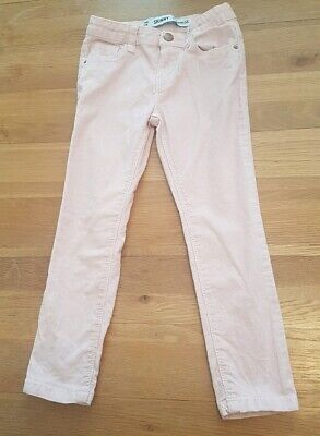 Girls pink sparkly corduroy skinny trousers age 5-6 years from primark