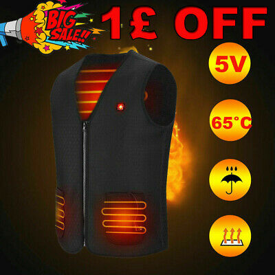 Electric Vest Heated Jacket USB Thermal Warm Heated Pad Winter Body Warmer