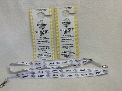 2019 BREEDERS' CUP MEDIA PARKING PASSES & LANYARDS--FRIDAY and SATURDAY