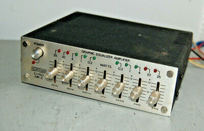 AMSTRAD CH50 MK2 In Car Graphic Equaliser Vintage 70s 80s Retro Rare Audio Hifi