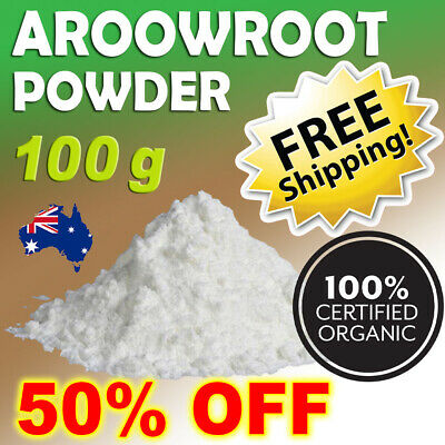 Certified Organic Arrowroot Powder Starch Flour 100% Pure, Premium FREE SHIPPING