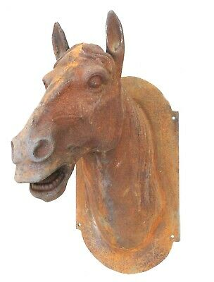 Cast Iron Horse Head Butcher Trade Sign Antique Style Life Size French