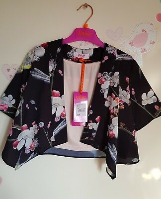 Ted Baker Girls Floral Kimono & Cami Set / Top. 4 Years. Designer.