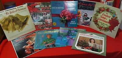 Vintage Christmas Record LP Albums Classic Christmas Songs Various lp's FreeShip