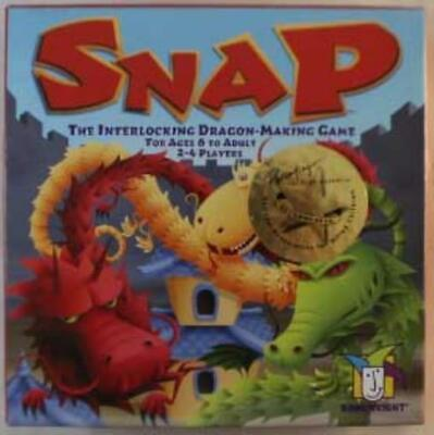Gamewright Boardgame Snap - The Interlocking Dragon-Making Game Box NM