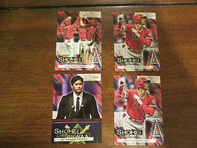 2019 Topps Update Lot of 4 SHOHEI OHTANI Highlights Angels