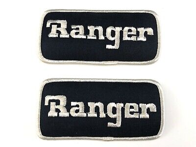2 Vintage Ford Ranger Embroidered Patches