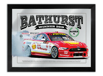 Bathurst Winner 2019 Scott Mc Laughlin / Premat Burnout Bar Mirror
