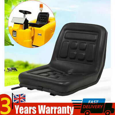 Black Universal Tractor Seat Skid Steer Dumper Mower Suspension Seat with Rails