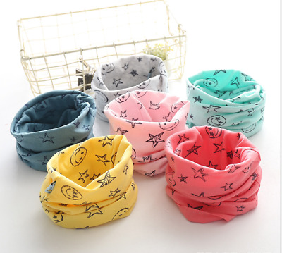 Kids Scarf Baby Snood Scarves Winter Soft Cotton Boys Girls Neck Cover Warmer