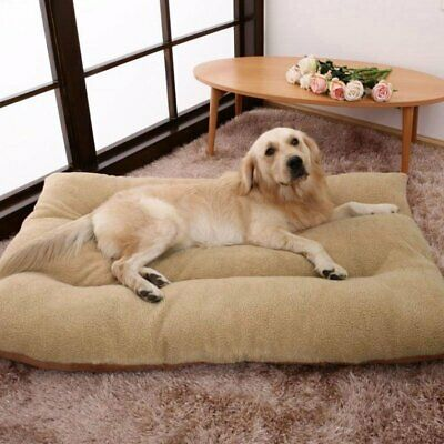 Dog Bed Pet Cat Puppy Deluxe Faux Fur Washable Fleece Cushion Extra Large Size