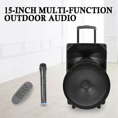 """15"""" inch Active Speaker Loud Sound System PA SD/USB Bluetooth Wireless+RC AU"""