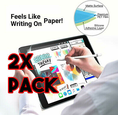 2X Paperlike Screen Protector for iPad 10.2 [7th Gen] Anti Glare Matte For Apple