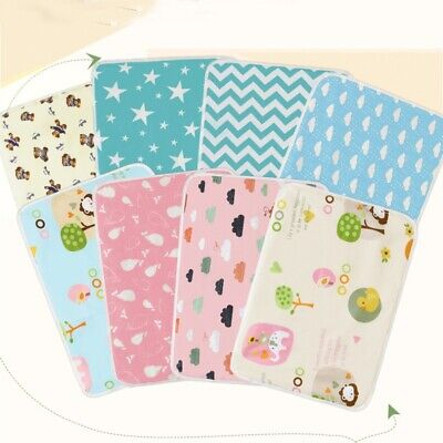Baby Changing Pad Infant Cotton Printed Diaper Nappy Cover Waterproof Urine Mat