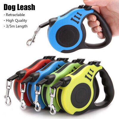 Dog Leash Lead Traction Rope Walking Training Retractable Automatic Extendable