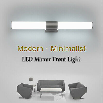 Modern Bathroom LED Mirror Front Light Vanity Toilet Wall Mount Lamp Sconces