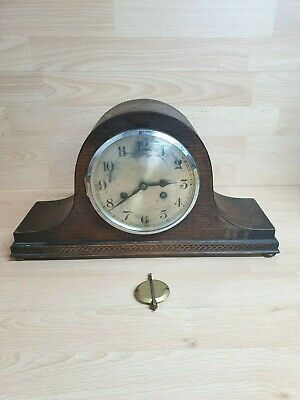 Antique VINTAGE PENDULUM Wood MANTLE CLOCK - art deco?