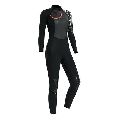 Women Wetsuit Long Sleeve Warm Diving Surfing Wet Suit Jumpsuit w/ Knee Pad