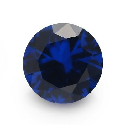 500pcs 1.0~10.0mm Round Shape Blue Synthetic Spinel Gemstone For Jewelry DIY