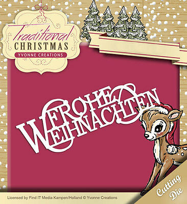 YVONNE CREATIONS ~ TRADITIONAL CHRISTMAS ~ FROHE WEIHNACHTEN ~ Stanzschablone