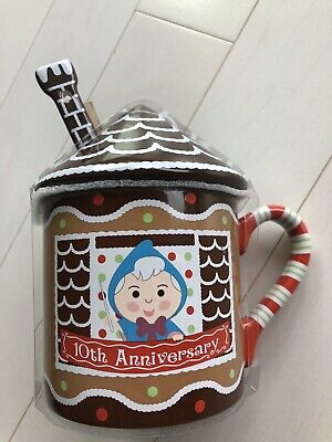 Disney Contemporary Resort Gingerbread Castle 10th Anniversary Covered Mug Cup