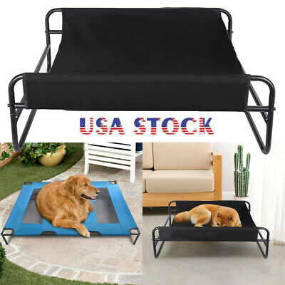 Elevated Dog Bed Lounger Sleep Pet Cat Raised Cot Hammock Indoor Outdoor-USA