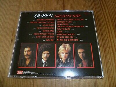 Queen Greatest Hits Cd No Barcode Rare 1St Made In Uk Cdp7460332 Mint Play !!