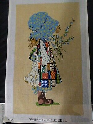 """Barbara Russel Hand Painted Needlepoint Canvas.14 Stitch. Large 18 by 27.5"""""""
