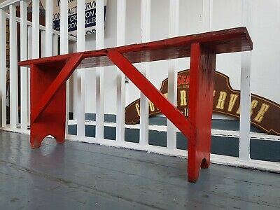 Hand Painted Antique Rustic/Industrial Bench/Console. Vintage/Interiors