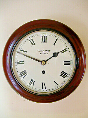 8 Inch Fusee Dial Clock, Arvoy, Battle