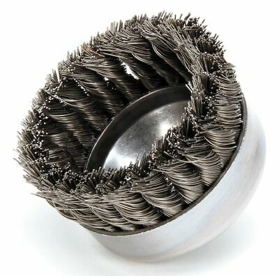 Weiler Brush Knot Wire Cup Brush, Threaded Arbor, 4 In. - 12316