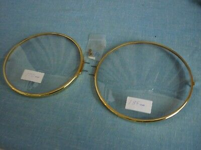 2 Clock Bezels Round Convex Glass. New Old Stock.