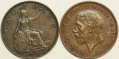 1911 to 1936 George V Bronze Farthing Your Choice of Date