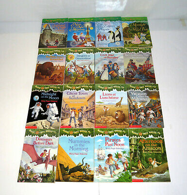 Lot of 16 Magic Tree House Books by Mary Pope Osborne & Merlin Missions