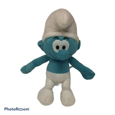 Sporty Smurf 30cm tall 2012 Licensed Stuffed Animal NEW SMURFS PLUSH