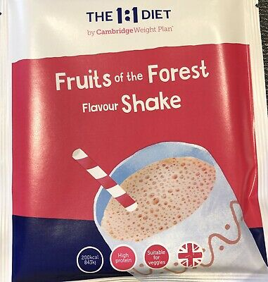 6 x Cambrid Weight Plan 1:1 Diet Fruits Of The Forest and Strawberry Shakes