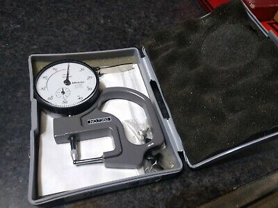 Mitutoyo 7360 dial thickness gage 1-10mm tube thickness anvil
