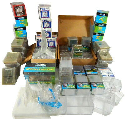 Huge Lot of Snap-It Card Holders Flex Vault Ultra Pro Toploaders Ball Cubes ++