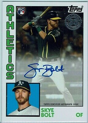 2019 Topps Update Series Skye Bolt 1984 Topps Design Autographed Rookie Card