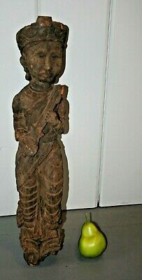 Carved Wood India Hindu Architectural Sculpture Statue South East Asia Krishna