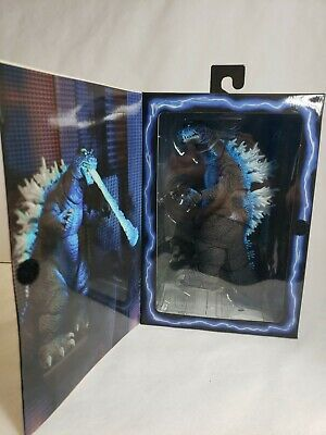 "Godzilla Blue 12"" Head To Tail Action Figure 2001 Atomic Blast NECA New USA"