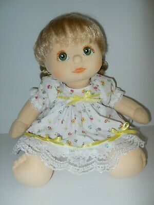 My Child Doll Dress & Pants in White Tiny Floral Printed Fabric