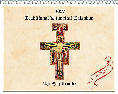 2020 Traditional Catholic Calendar: Holy Crucifix, fasts, feasts, full color