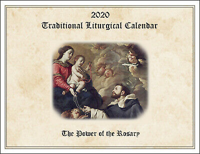 2020 Traditional Catholic Calendar: Power of the Rosary; fasts, feasts, holidays