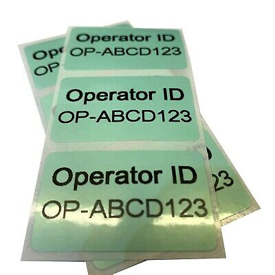 Drone or Model Aircraft Operator ID Stickers CAA UK Regulatory Labels 4cm FIVE